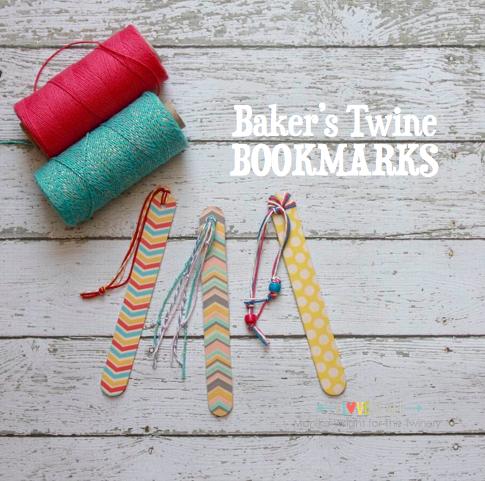 Baker's Twine Bookmark Tutorial | iloveitallwithmonikawright.com