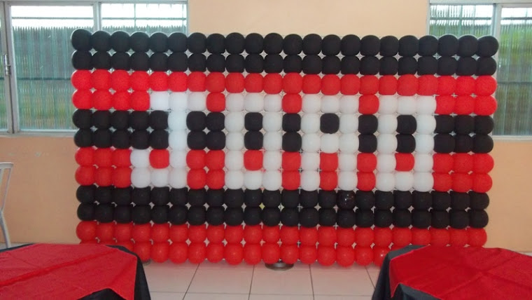 Decoração com tema Flamengo