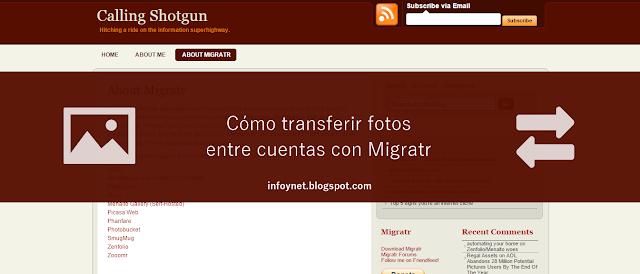 Cómo transferir fotos entre cuentas con Migratr