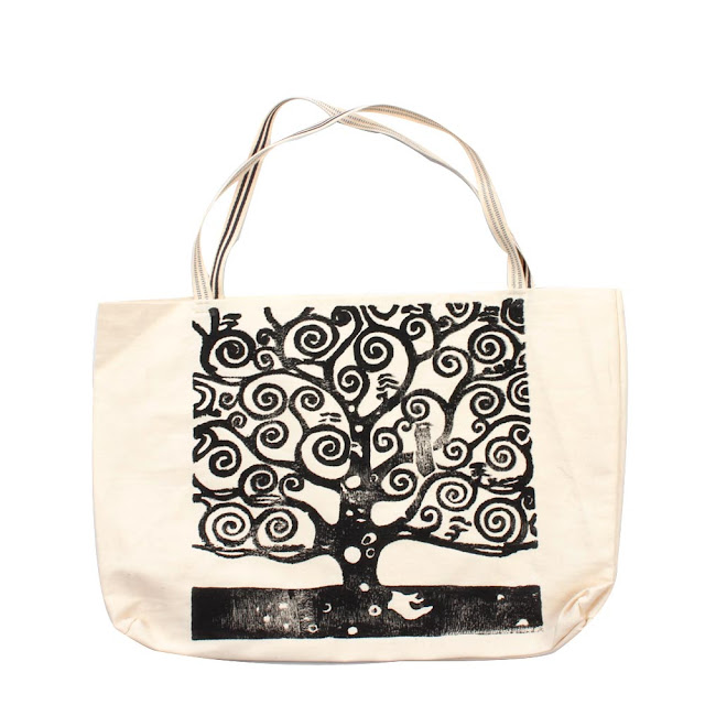 """Bolsa Ecobag com estampa em Xilogravura Xilo Shirt - Série """"Árvore da Vida"""""""