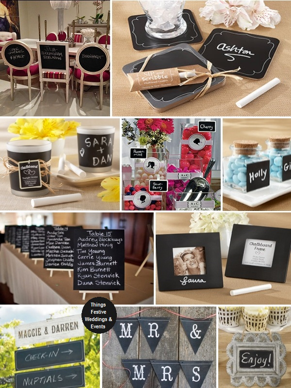 Chalkboard wedding decorations amp favors trendy amp versatile things