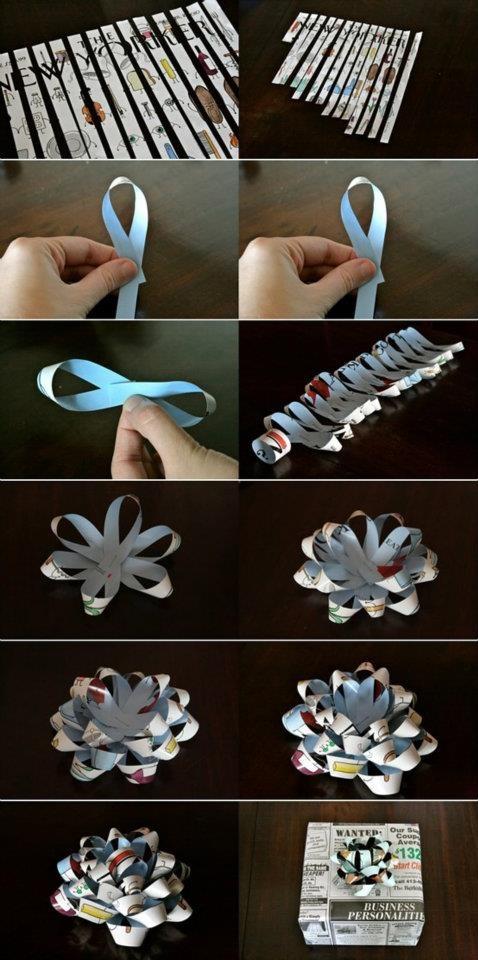 Как сделать бумажный бантик из ленты своими руками