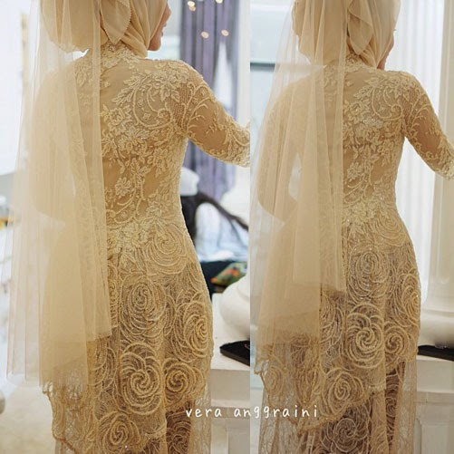 model kebaya pengantin muslim modern