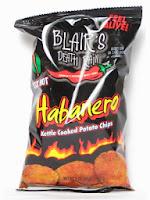 Blair's habanero potato chips