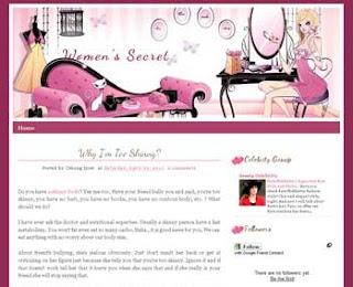 Women's Secret Blogger Template