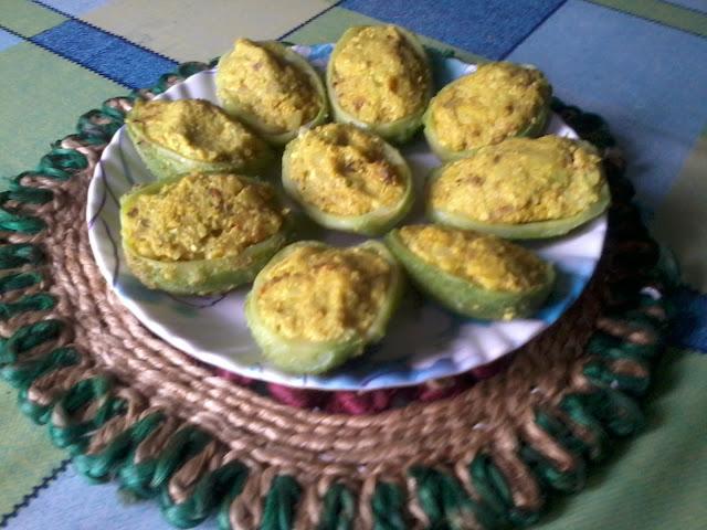 Kakrol Pur / Stuffed Teasel Gourd-On Plate