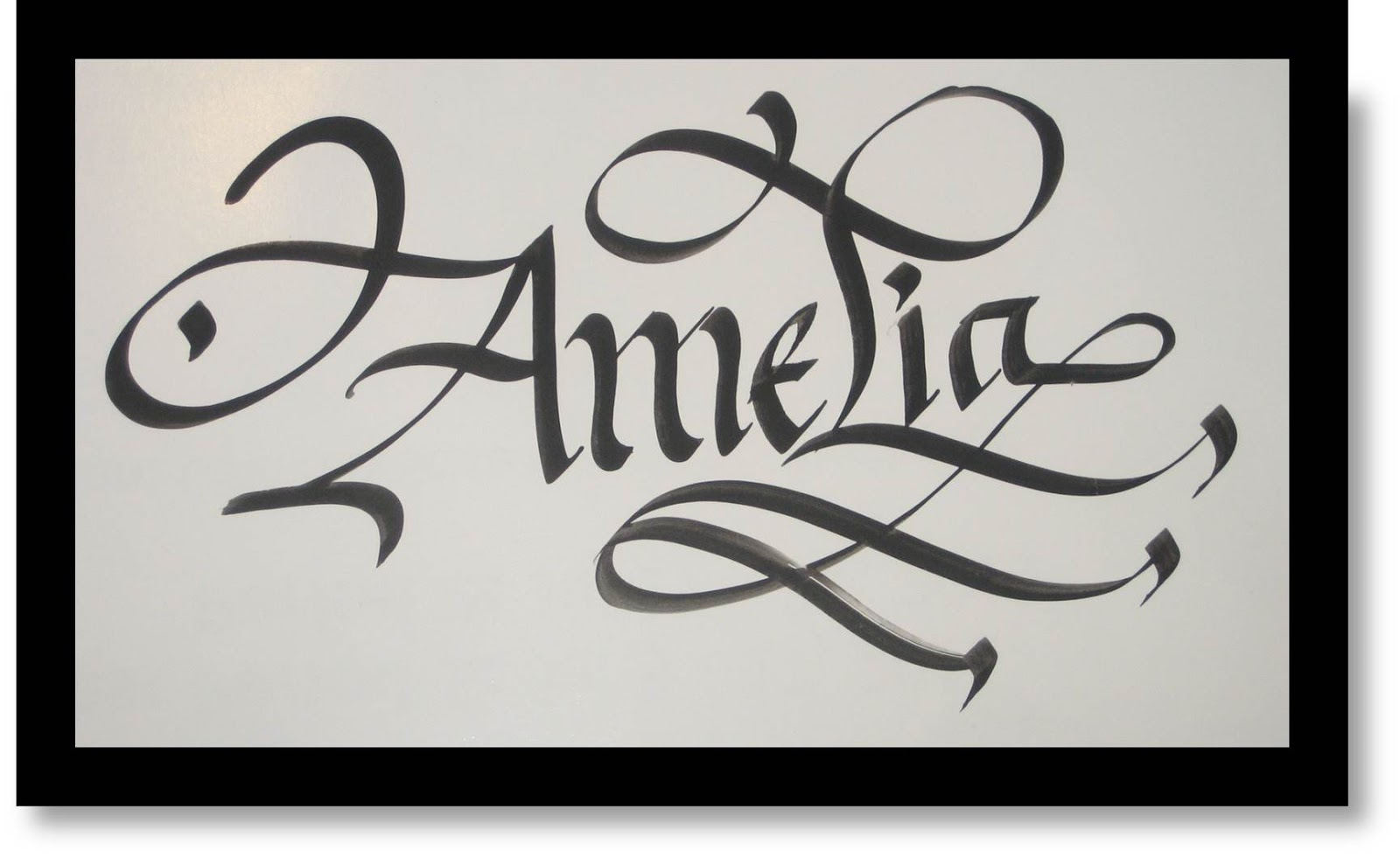 Calligraphy art french names amelia My name in calligraphy