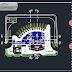مخطط وصفي لمحطة حافلات بشكل مميز اوتوكاد dwg