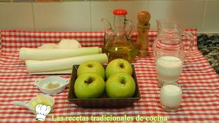 Receta fácil de manzana y puerros