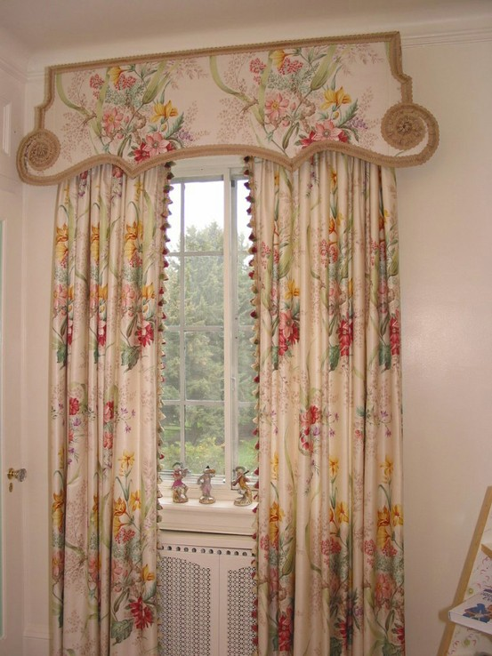 Curtains Ideas chinoiserie curtains : Design du Monde: Style study: Lambrequins, cornices and pelmets.