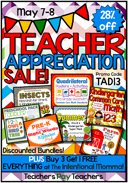 teachers pay educational printables preschool homeschool pre-k kindergarten math common core bundles units posters
