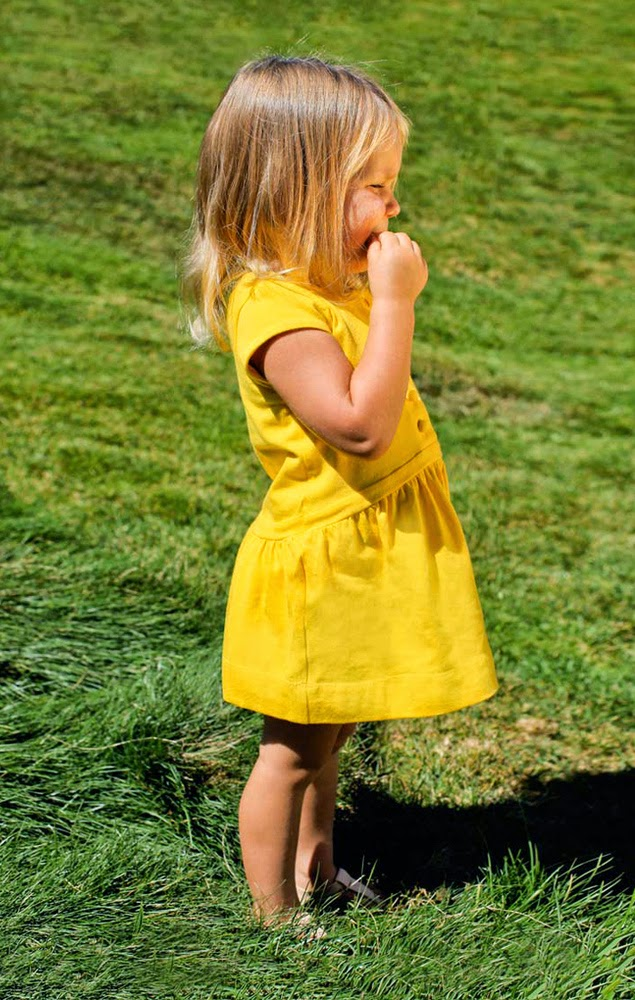 Stylish girls' dress by Omamimini for spring 2014 kidswear collection