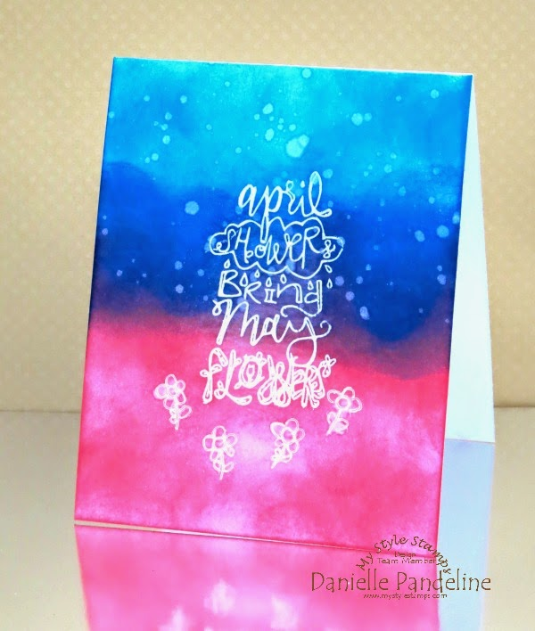May Showers Card | featuring My Style Stamps | Created by Danielle Pandeline