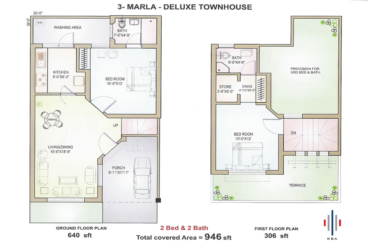 Marla Delux Housing Plan from Pakistani Builders