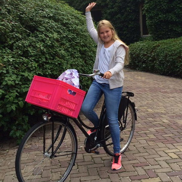 Crown Princess Amalia Attended First Day In High School