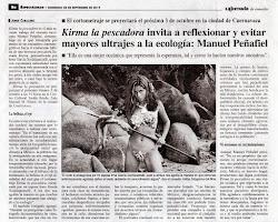 La Jornada / México, DF. Kirma La Pescadora  trabajo del cineasta mexicano Manuel Peñafiel