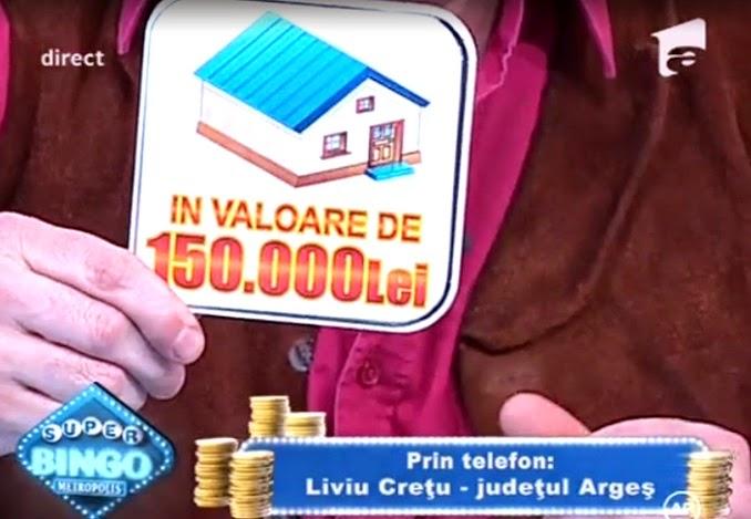 Super Bingo Metrolopolis o casa in valoare de 150000 lei