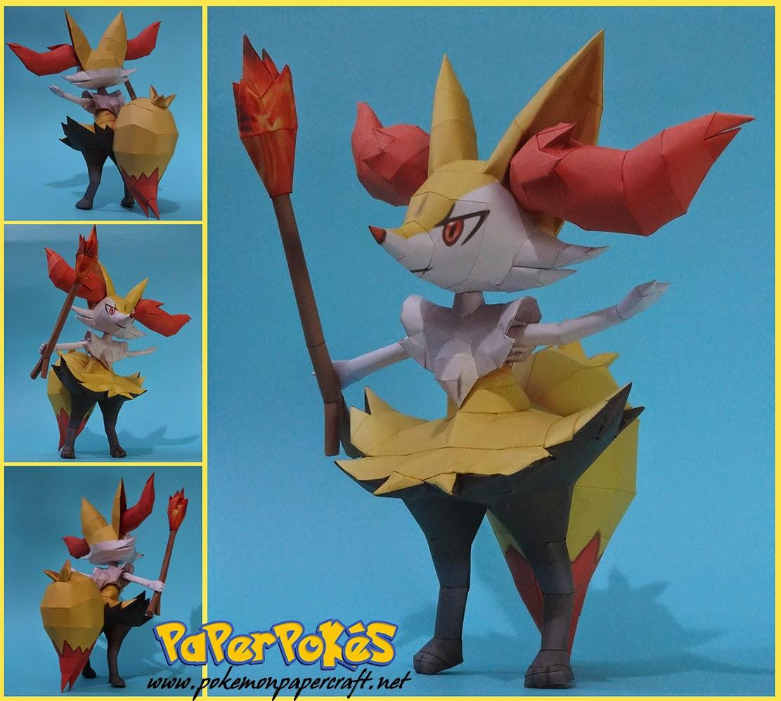 Pokemon Braixen Papercraft