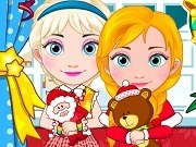 Elsa And Anna Babies Christmas Shoping