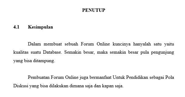 Cara membuat makalah jauh berbeda dengan cara menulis artikel di Blog Contoh Makalah Sederhana Bahasa Indonesia Yang Benar