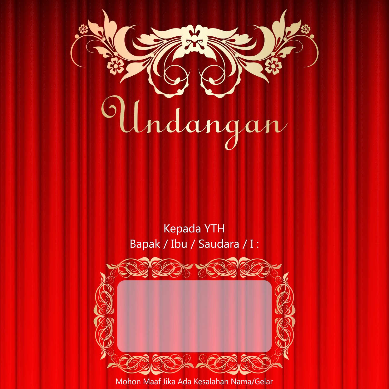 Template Undangan Pernikahan CDR File Gratis Download - Canonz Grafhz