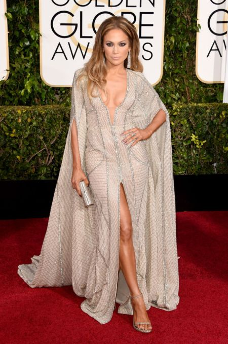 Jennifer Lopez in a sexy Zuhair Murad frock at the Golden Globe 2015
