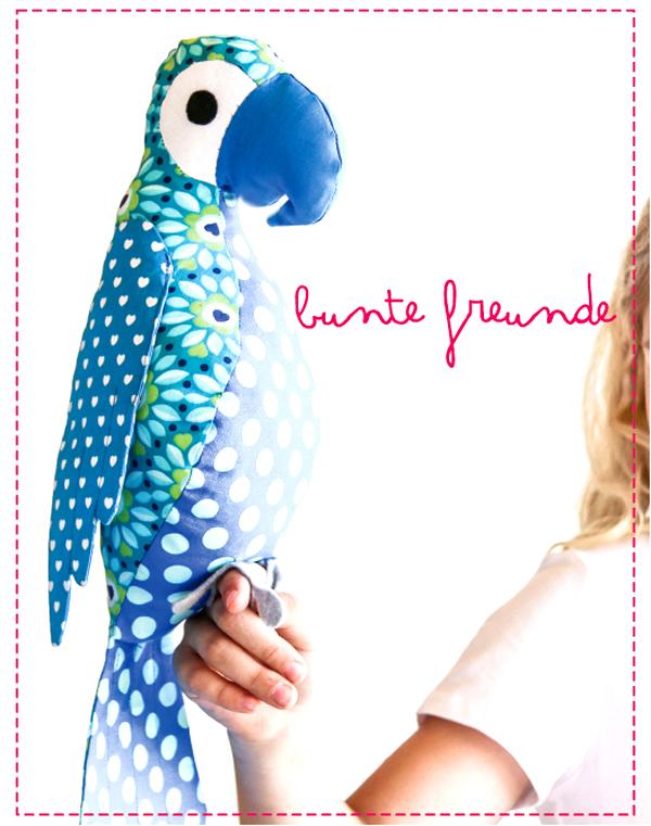 bunte freunde: NEU: eBook Schnittmuster Papagei \