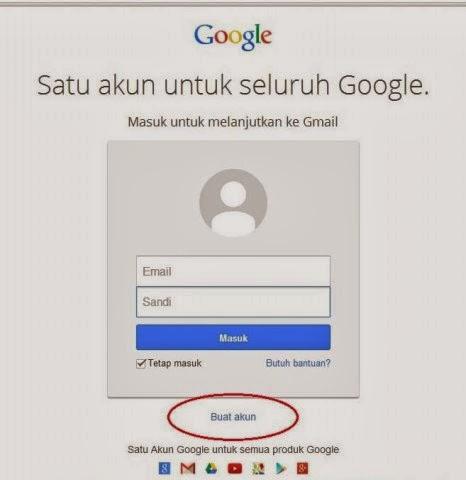 Cara membuat email langkah 1
