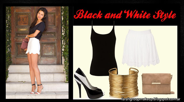 Black outfit, White Outfit