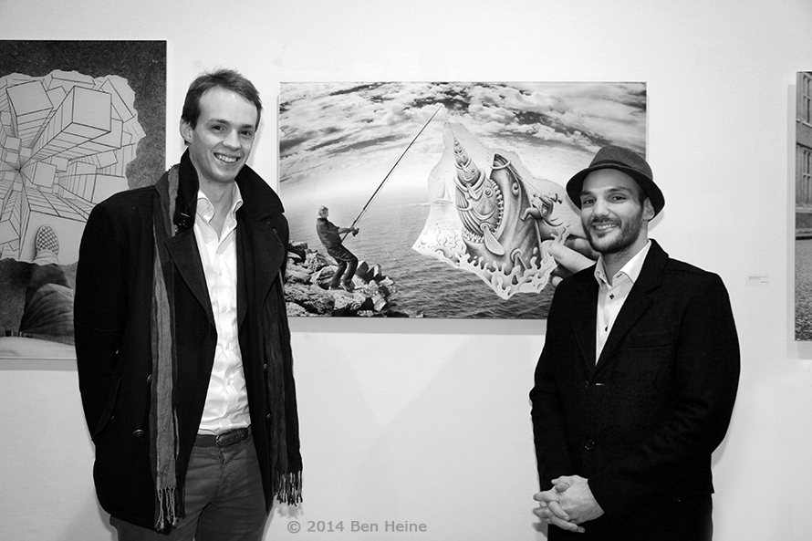 Belgian Consul in Seoul Pierre Steverlynck and Ben Heine - Exhibition in Brussels - DCA Gallery - 2014