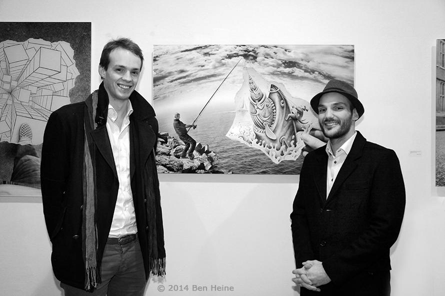 Belgian Consul in Seoul Pierre Steverlynck and Ben Heine - Exhibition in Brussels - DCA Gallery - 2014