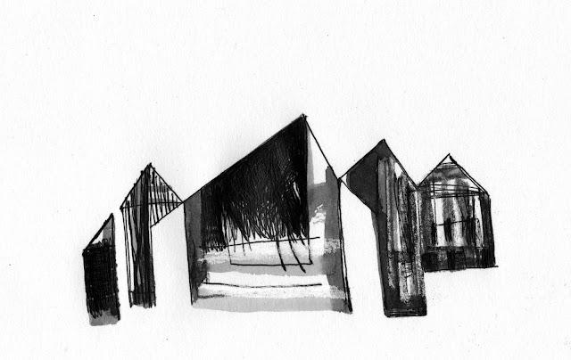 inkylinky lithograph houses