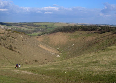 Devils Dyke - a 'dry river valley' on the South Downs