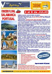 Crucero Fluvial, SALAMANCA y PORTUGAL
