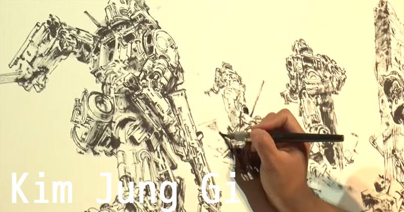 筆ペンでゴッツ好みの絵を描く韓国人アーティスト:Kim Jung Gi