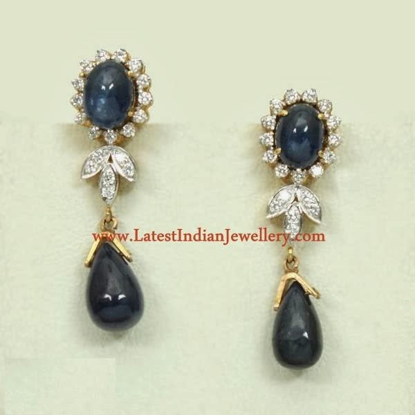 Diamond Sapphire Cocktail Earrings
