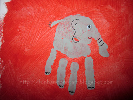 Craft Ideas Jungle Animals on Arts   Crafts  Handprint   Footprint Animal Canvas Art  Reader