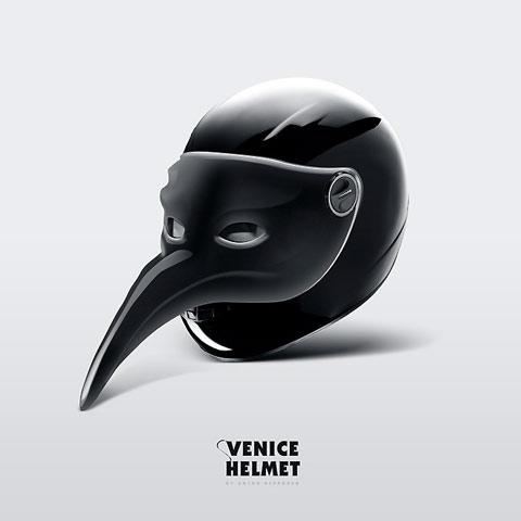 Diseño de casco pájaro
