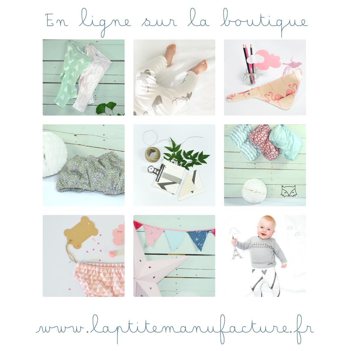 bébé boutique bio ligne vente création entreprise rose vert bleu menthe