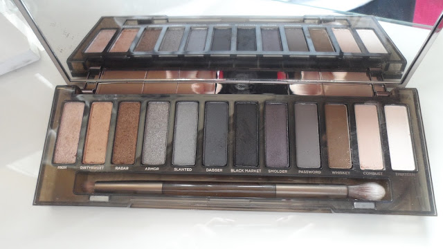 urban decay naked smoky palette, eyeshadow, swatches, review