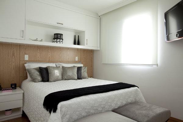 Casa e cia almofadas em preto e branco - Cama sobre armario ...