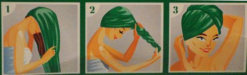 toalla turbante mercadona colocación