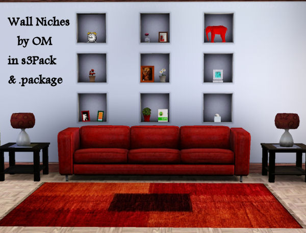 My sims 3 blog inset wall niches by om - Wall niches ...