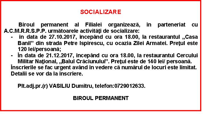 SOCIALIZARE