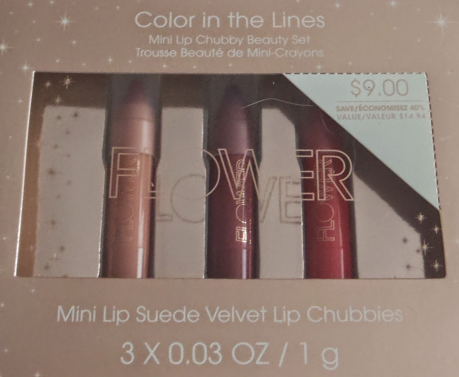 Sparkled beauty flower beauty color in the lines flower beauty lip suede velvet lip chubbies 009oz 3g full size 798 each are twist up lip crayons with a satin matte velvet finish izmirmasajfo
