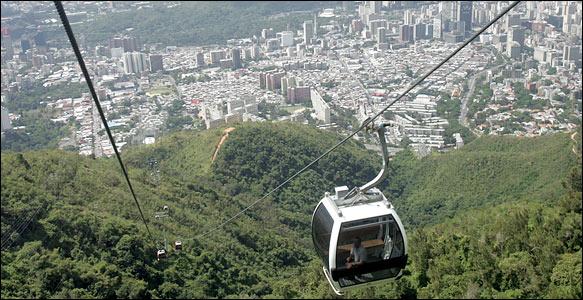 Telesférico hasta la cima de la montaña el Ávila en Caracas
