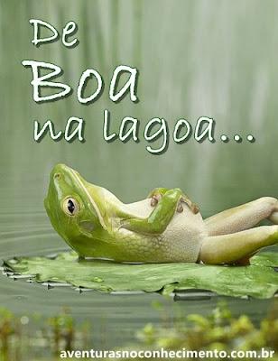 De boa na lagoa...