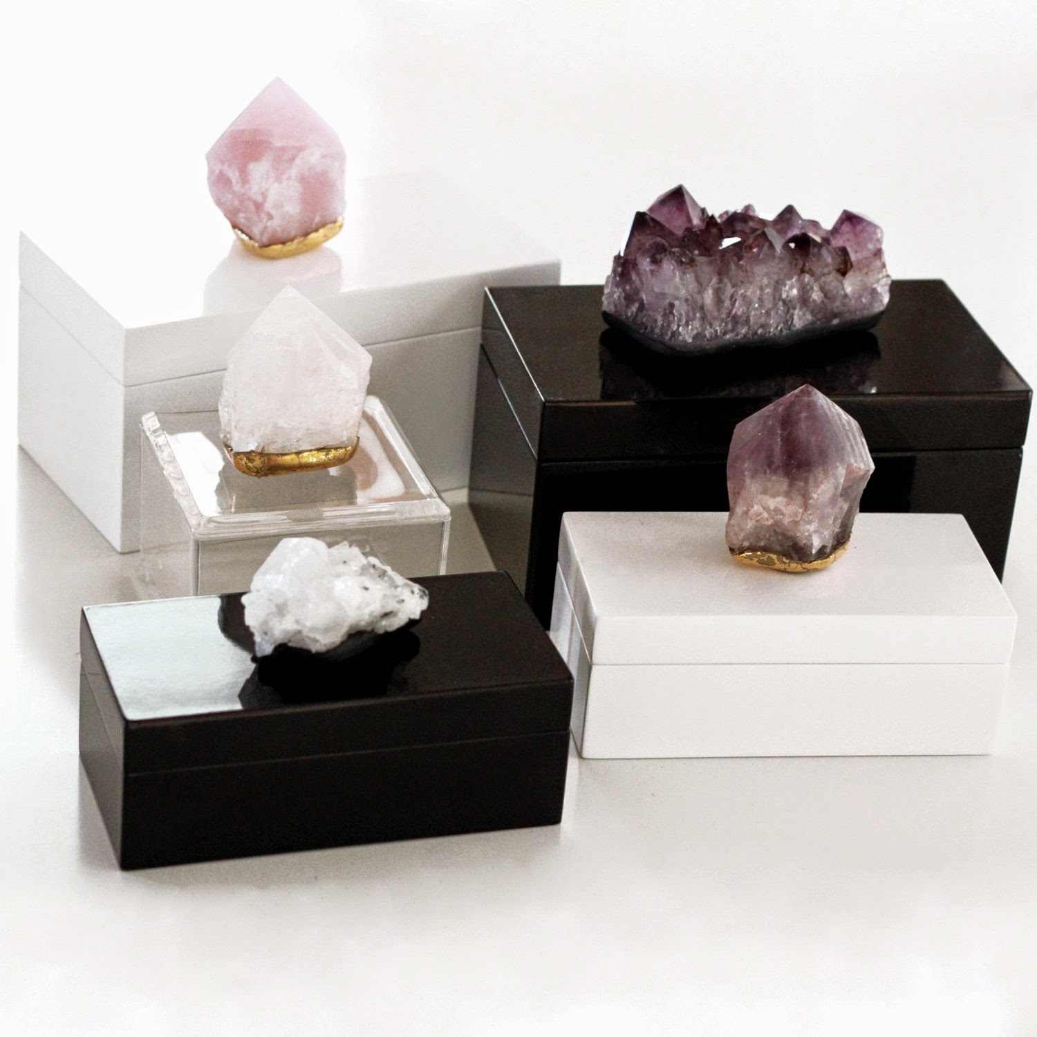 Quartz Crystal Jewelry Box Quartz Crystal Jewellery Box