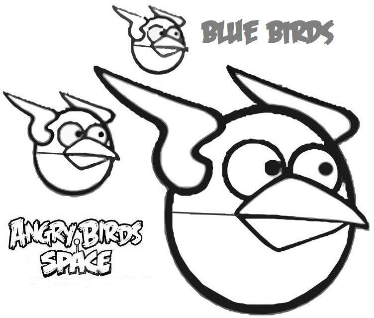 Angry bird space cute cartoon wallpaper for Blue angry bird coloring page