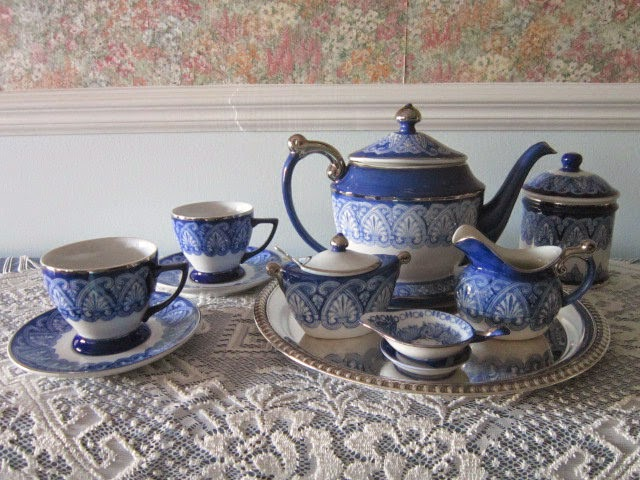 Relevant Tea Leaf: Blue & White China from Bombay Company